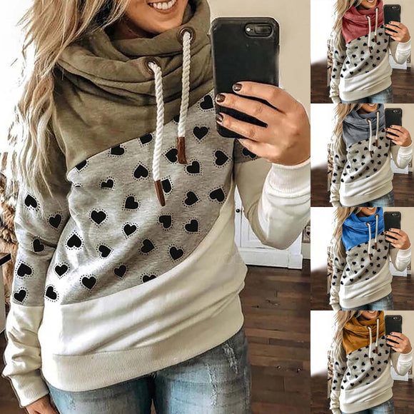 Hoodies For Women Fashion Print Winter