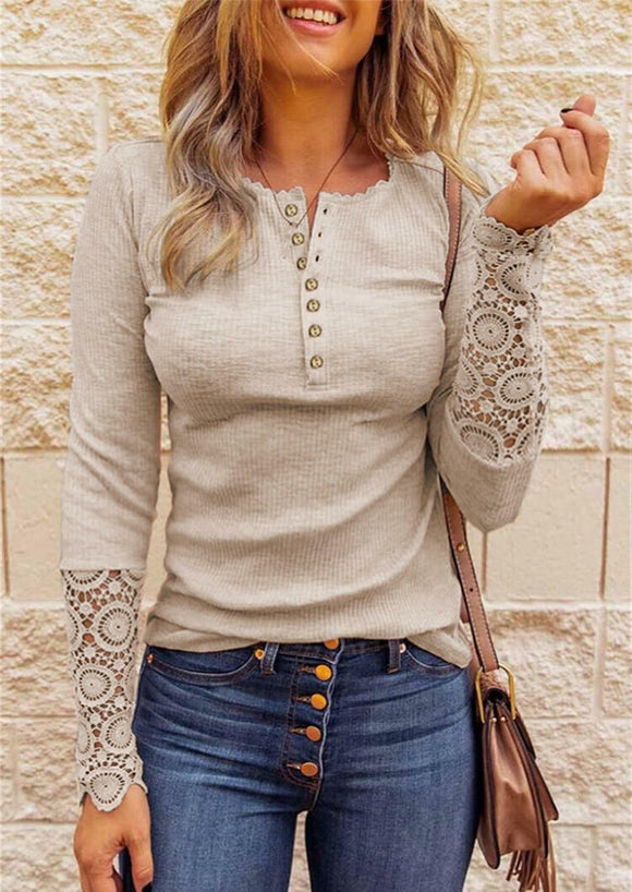 Lace Hollow Out Woman's Top