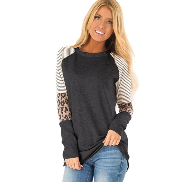 Leopard Casual Women T shirt