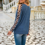 Leopard Hollow Out Sleeve T Shirts