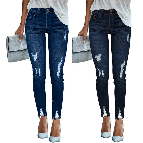 Women's Mid Waisted Skinny Jeans