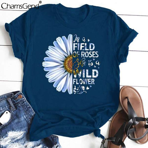 Women's Tees Sunflower Print