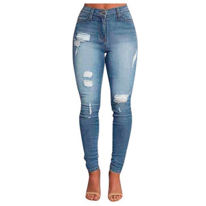 High Waist Skinny torn Jeans
