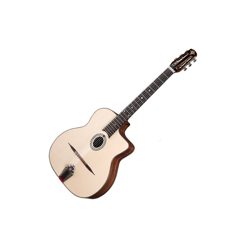 Eastman DM1 Natural Guitare Gypsy Jazz Petite Bouche + Housse Eastman