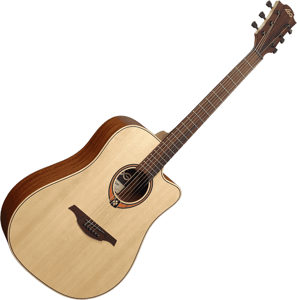LAG GLA T70DC Dreadnought cutaway Guitare Folk acoustique