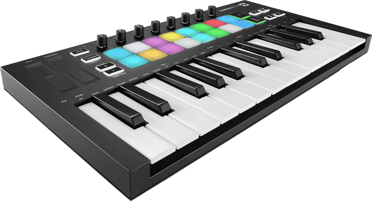 Novation Launchkey Mini MkIII Clavier Mini touches 25 notes 16 pads
