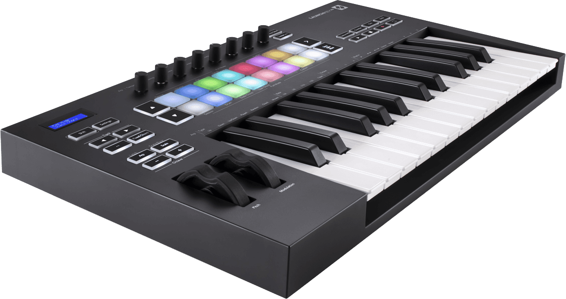 Novation LAUNCHKEY-25-MK3 Mk3 Clavier 25 notes, 16 pads