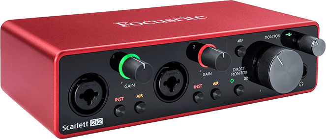 Focusrite SCARLETT3 2I2 Interface Scarlett G3 - 2 in/2 out USB-C