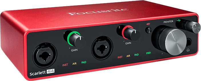Focusrite SCARLETT3 4I4 Interface Scarlett G3 - 4 in/4 out USB-C