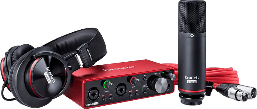 Focusrite SCARLETT3 2I2 STUDIO Interface Scarlett G3- 2 in/2 out USB-C micro casque & accessoires
