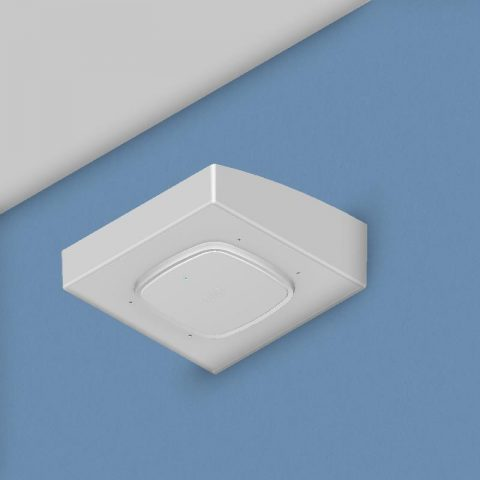 Right-Angle Wi-Fi Access Point Wall Bracket, Spring-Attached Cisco 9120 Access Point Trim