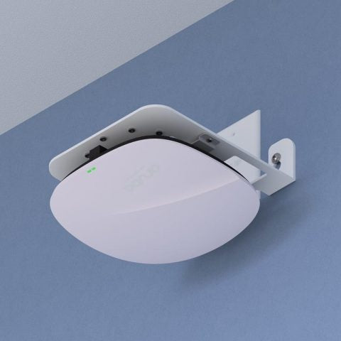 Right-Angle Wi-Fi Access Point Wall & Joist Bracket for Most AP Models, White