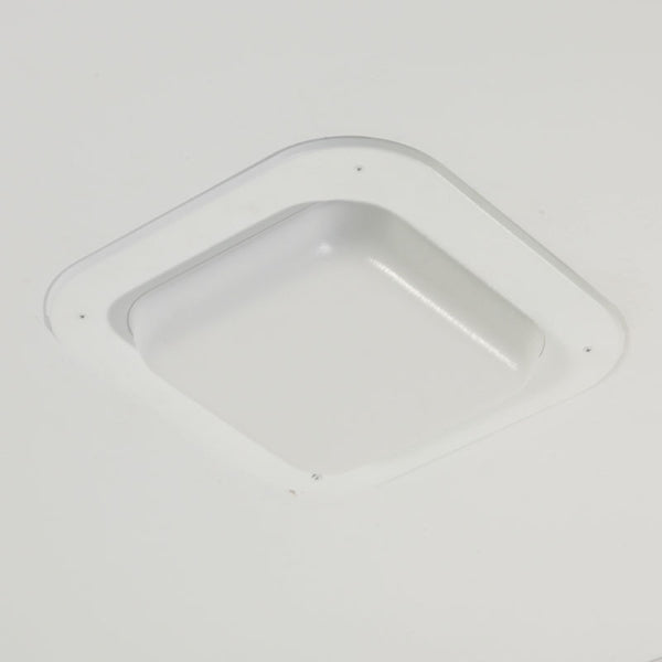 11 in. Single Piece Recessed Ceiling Wi-Fi Access Point Mount, White Plastic Dome Trim