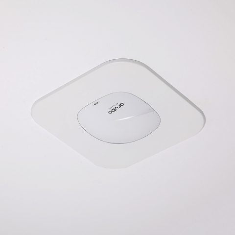 Recessed Wall & Hard-Lid Ceiling Access Point Installation Kit for Existing Construction, 11 x 11 x 3 in. Back Box, Spring-Attached Aruba AP335/AP345 Trim