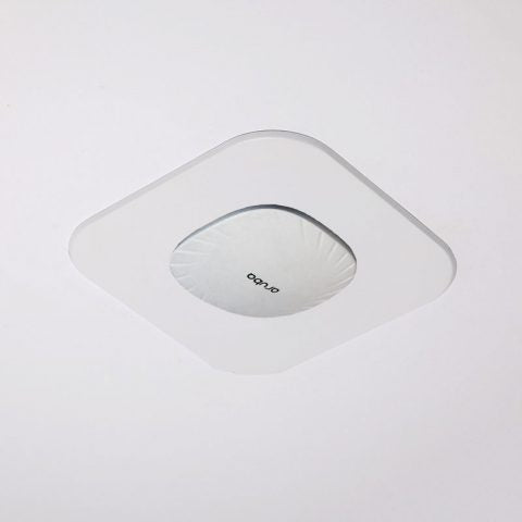 Recessed Wall & Hard-Lid Ceiling Access Point Installation Kit for Existing Construction, 11 x 11 x 3 in. Back Box, Spring-Attached Aruba AP555 Trim