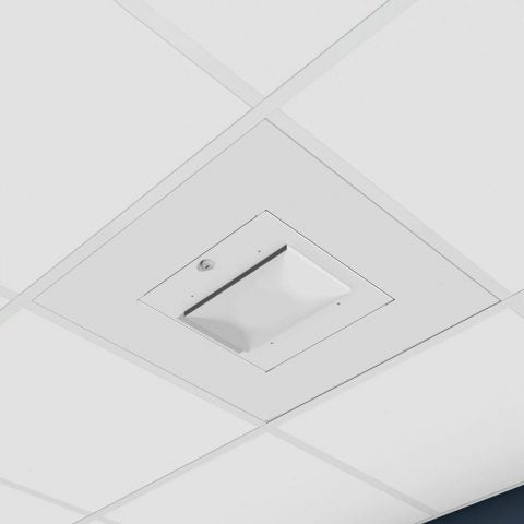 Locking Suspended Ceiling Tile Access Point Enclosure, 12.5 x 12.5 x 3 in. Back Box, Meraki MR42 Door