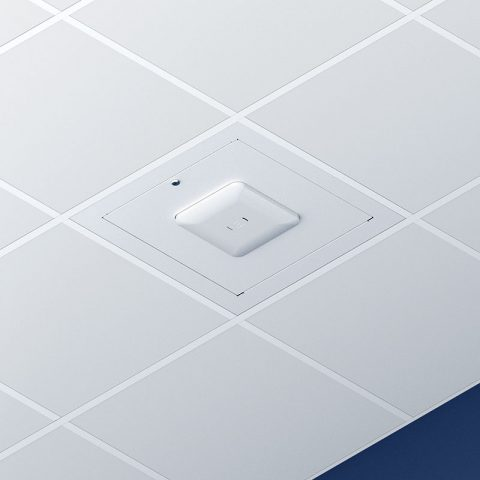 Locking Suspended Ceiling Tile Access Point Enclosure, 18.5 x 18.5 x 3 in. Back Box, Extreme 510i Access Point Door