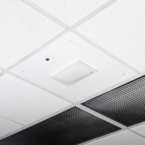 Locking Suspended Ceiling Tile Access Point Enclosure, 18.5 x 18.5 x 3 in. Back Box, Meraki MR52 Door, Tegular Style Flange