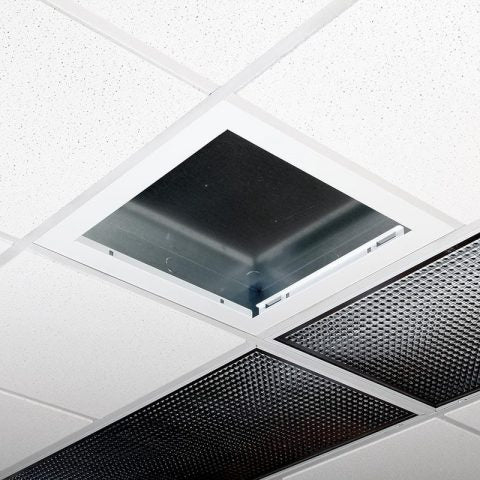 Locking Suspended Ceiling Tile Access Point Enclosure, 18.5 x 18.5 x 3 in. Back Box, No Door, Pairs with 38-47 Series Doors
