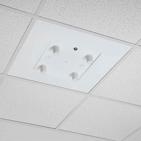 Locking Suspended Ceiling Tile Access Point Enclosure, 23.75 x 23.75 x 4.5 in. Back Box, External Antenna Mounting Door