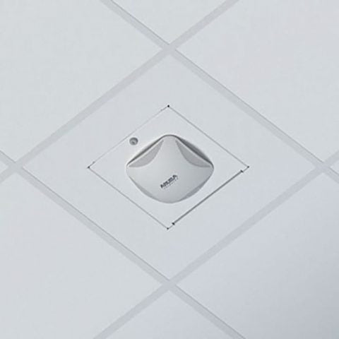 Locking Suspended Ceiling Tile Access Point Enclosure, 23.75 x 23.75 x 4.5 in. Back Box, Aruba AP325 Door