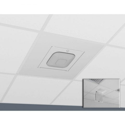 Locking Suspended Ceiling Tile Access Point Enclosure, 23.75 x 23.75 x 4.5 in. Back Box, Cisco 2600/2700/3500/3600/3700 Series Door