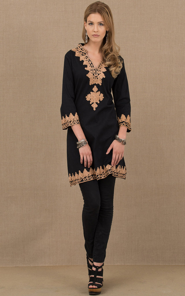 Marrakesh Tunic Black