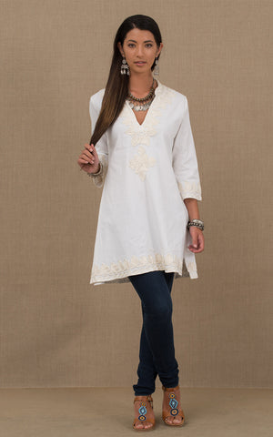 Marrakesh Tunic White