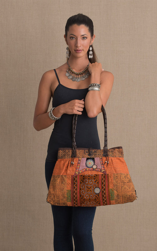 Hill Tribe Shoulder Bag, Orange