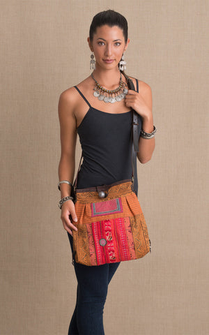 Hill Tribe Crossbody Bag, Orange
