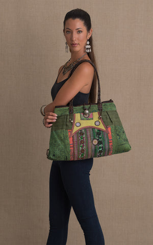Hill Tribe Shoulder Bag, Green