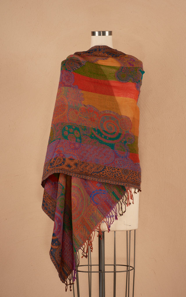 Boiled Wool Shawl, Arcoiris