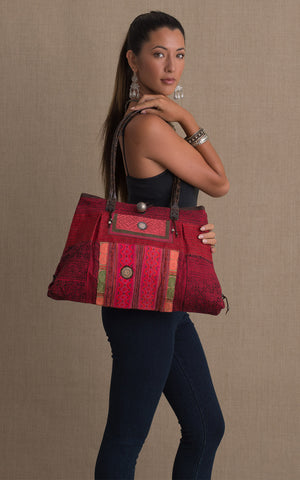 Hill Tribe Shoulder Bag, Red