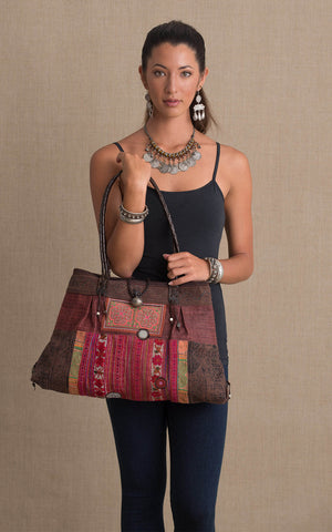 Hill Tribe Shoulder Bag, Brown
