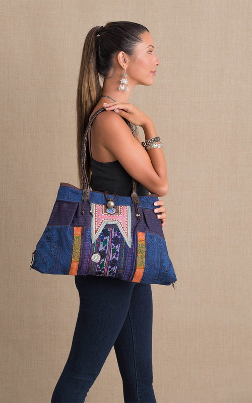 Hill Tribe Shoulder Bag, Indigo
