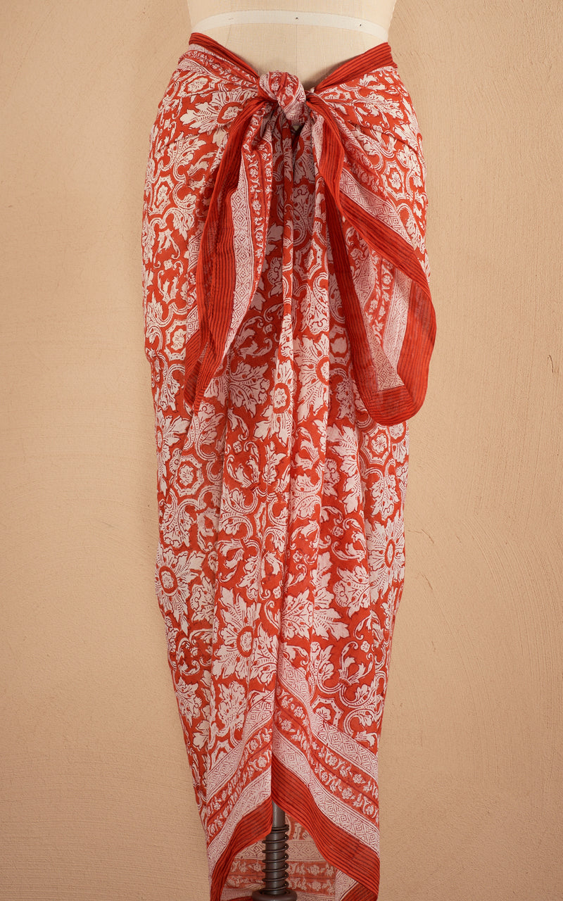 Sarong/Shawl, Orange Crush