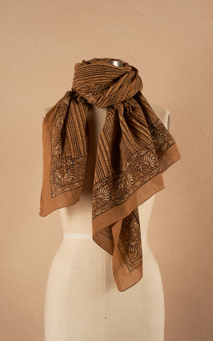 Sarong/Shawl, Curry Stripe