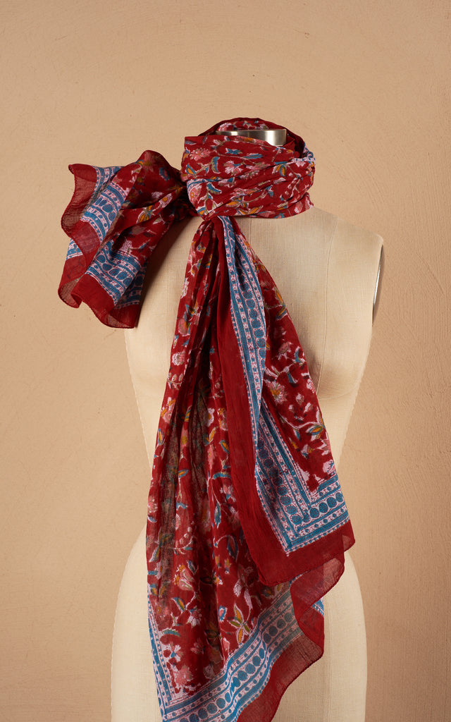 Sarong/Shawl, Wildflower Red