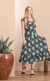 Sedona Dress, Long, Cap Sleeve, Sleeping Beauty