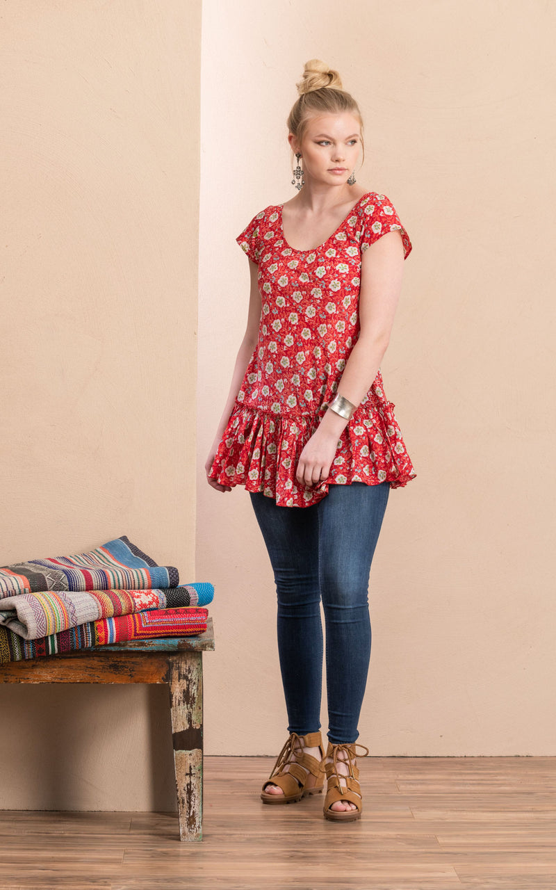 Luna Tunic, Davina Red