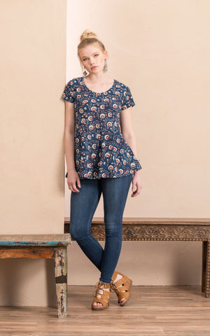 Peplum Top, Morning Glory