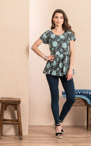 Peplum Top, Sleeping Beauty
