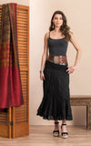 Macarena Skirt, Long, Solid Black