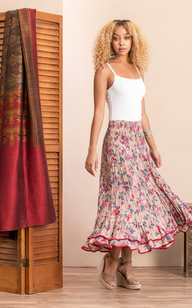 Macarena Skirt, Long, Desert Bloom