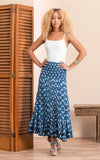 Macarena Skirt, Long, Indigo Rose