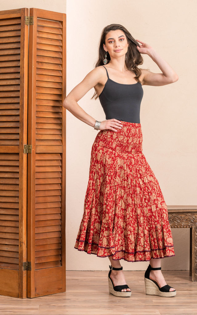 Macarena Skirt, Long, Desert Garden