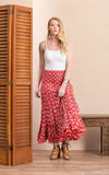 Macarena Skirt, Long, Davina Red