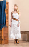 Macarena Skirt, Long, Solid White