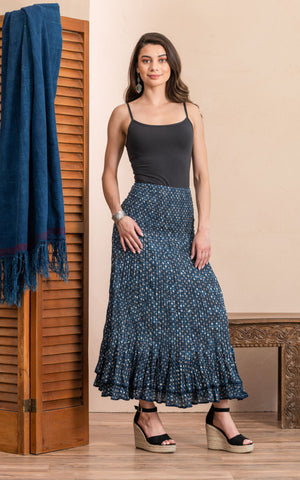 Macarena Skirt, Long, Dot on Dot