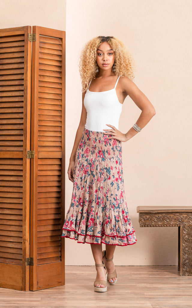 Macarena Skirt, Short, Desert Bloom
